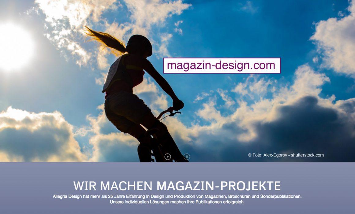 Professionelles Magazindesign von allegria design. Foto © Alex Egorov-shutterstock.com