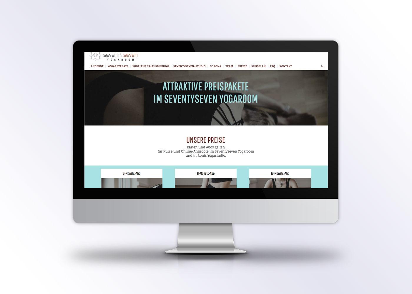 Corporate Design SeventySeven Yogaroom von allegriadesign in München