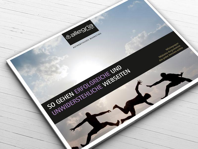 Whitepaper erfolgreiches Webdesign zu bestellen bei allegria design München