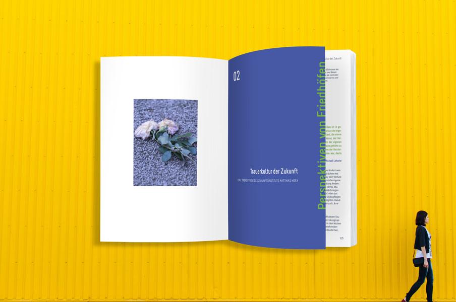 Buch Design Innenteil by allegria design, München. Hintergrundmotiv: rodion kutsaev, unsplash.com